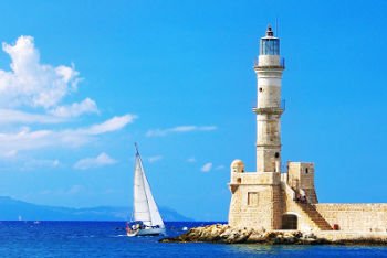 The Venetian lighthouse in Chania